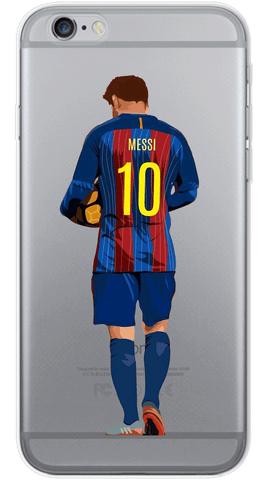 Messi Back Phone Case (Soft Transparent)