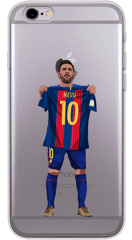 Messi 10 Phone Case (Soft Transparent)