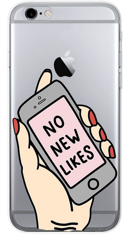 No New Likes Phone Case (Soft Transparent)