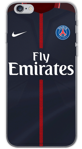 PSG Home 2017/18 Phone Case (Soft Transparent)