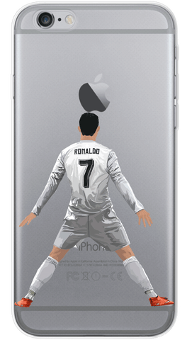 Ronaldo Back Phone Case (Soft Transparent)