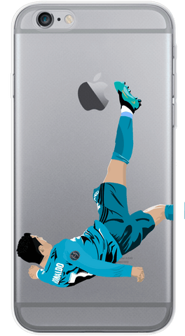 Ronaldo Bicycle Kick Phone Case (Soft Transparent)