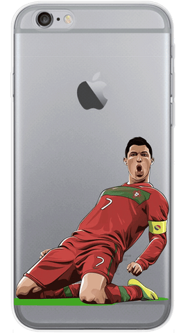Sliding Ronaldo Phone Case (Soft Transparent)