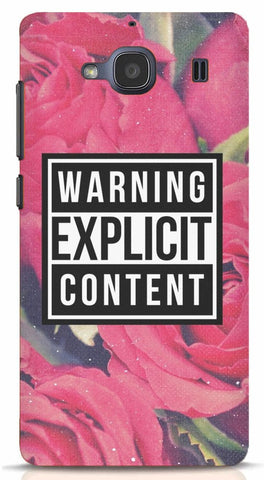 Warning Explicit Content Xiaomi Redmi 2/Prime Case