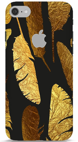 Gold Feathers iPhone 6/6S Apple Cut