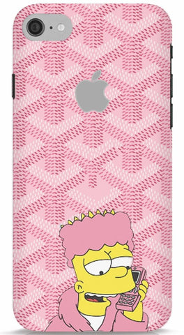 Bart Simpson In Pink Robe iPhone 7 Apple Cut