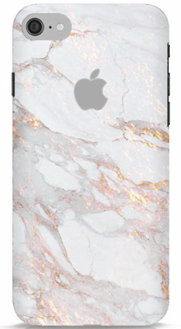 White and Gold Marble iPhone 6/6S Apple Cut
