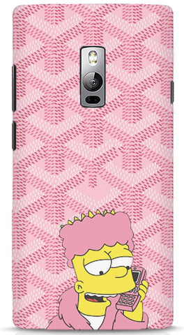 Bart Simpson In Pink Robe OnePlus 2 Case
