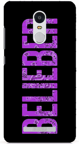 Belieber (Purple) Xiaomi Redmi Note 3 Case