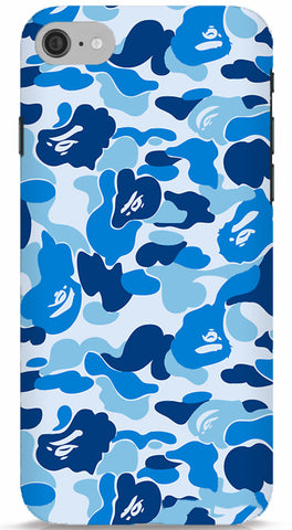 Blue Bape Camo Phone Case