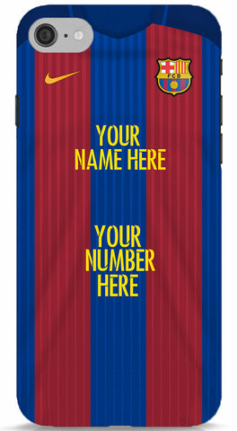 Custom Name/Number FC Barcelona Jersey Phone Case