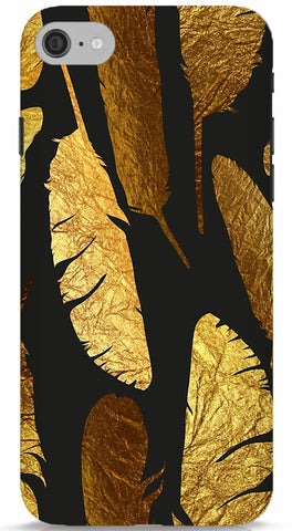 Gold Feathers Phone Case
