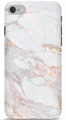 White and Gold Marble iPhone 7 Case