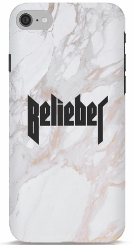 Belieber - White Marble Phone Case