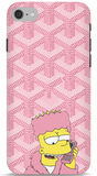 Bart Simpson In Pink Robe iPhone 6/6S Apple Cut