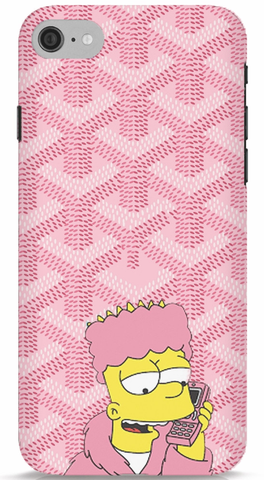 Bart Simpson In Pink Robe Phone Case