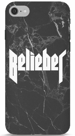 Belieber - Black Marble Phone Case