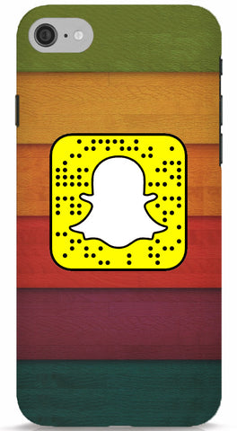 Coloured Wood Custom Snapcode iPhone 6/6S Case