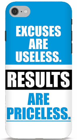 Excuses Are Useless, Results Are Priceless iPhone 6/6S Case