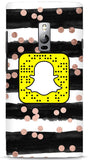 Stripes and Dots Custom Snapcode Phone Case