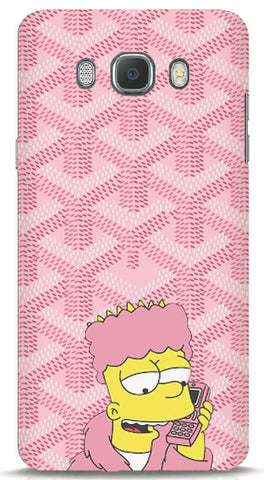 Bart Simpson In Pink Robe Samsung J7 2016 Case