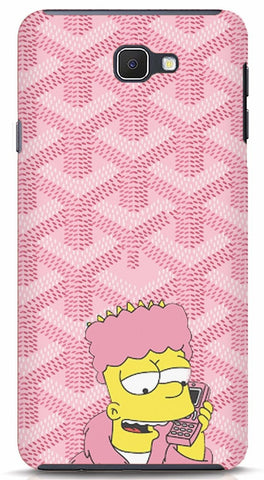 Bart Simpson In Pink Robe Samsung J7 prime Case