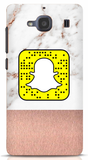 Rose Gold and Marble Custom Snapcode Phone Case