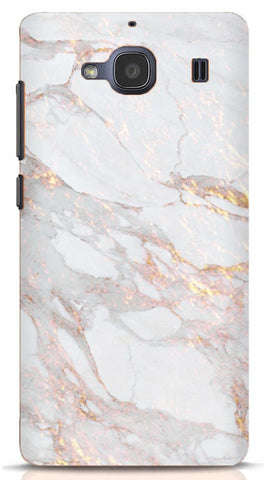 White and Gold Marble Xiaomi Redmi 2/Prime Case