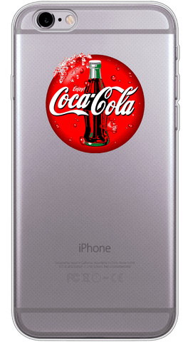Coca-Cola Phone Case (Soft Transparent)