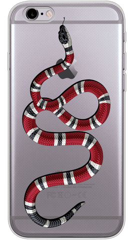 Gucci Snake Phone Case (Soft Transparent)
