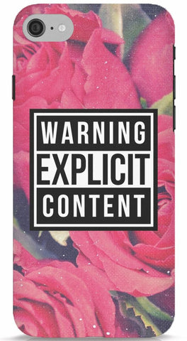 Warning Explicit Content Phone Case