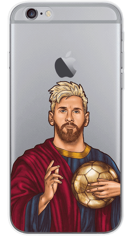 Lord Messi Phone Case (Soft Transparent)