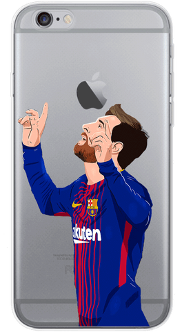 Messi Celebration Phone Case (Soft Transparent)