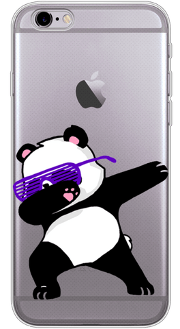 Dabbing Panda Phone Case (Soft Transparent)