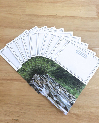 "Handmade Note Cards ""Flowing Stream"" Original Design: Set of 10 Cards and 10 Envelopes"