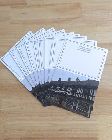 "Handmade Note Cards ""York Town"" Original Design: Set of 10 Cards and 10 Envelopes"