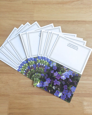 "Handmade Note Cards ""Purple Stars"" Original Design: Set of 10 Cards and 10 Envelopes"