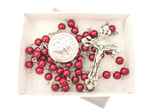 Confirmation/Holy Spirit Locket Sacrament Catholic Rosary