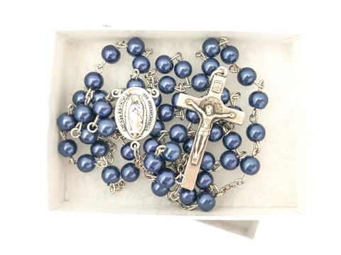 Our Lady of Guadalupe Silver Catholic Rosary