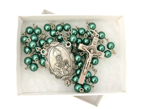 St Patrick/Irish Silver Catholic Rosary