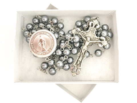 Miraculous Medal Locket Engagement/Wedding Catholic Rosary
