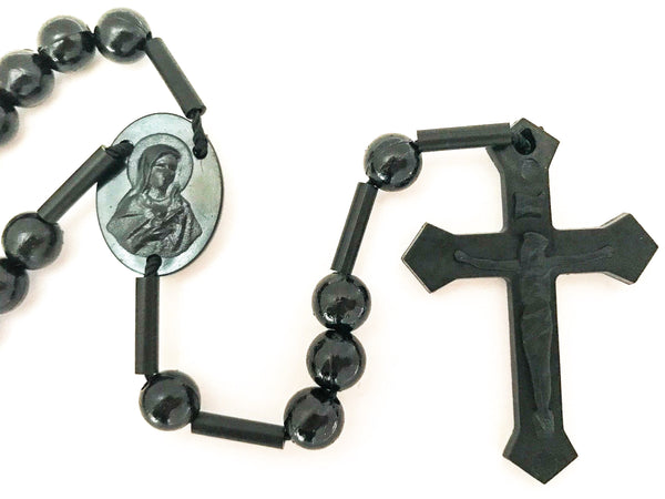Military or Mission Black Catholic Rosary