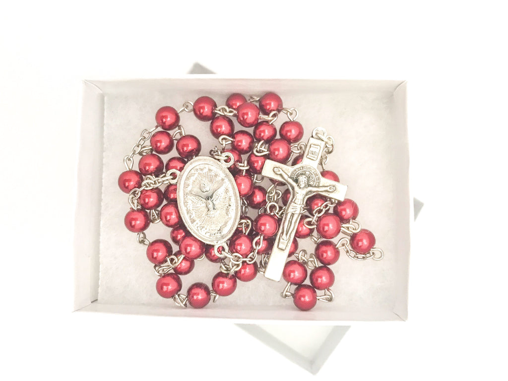Holy Spirit Red Catholic Rosary