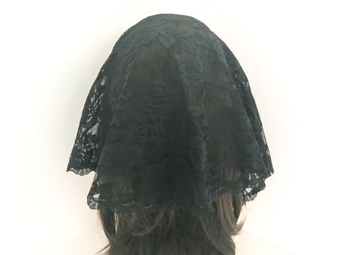 Small Black Semicircle Chapel Veil/Mantilla