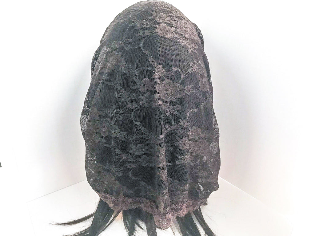 Brown Infinity Chapel Veil/Mantilla