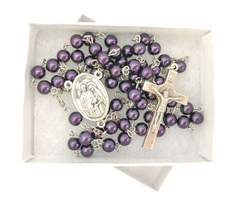 Holy Family Silver Catholic Rosary