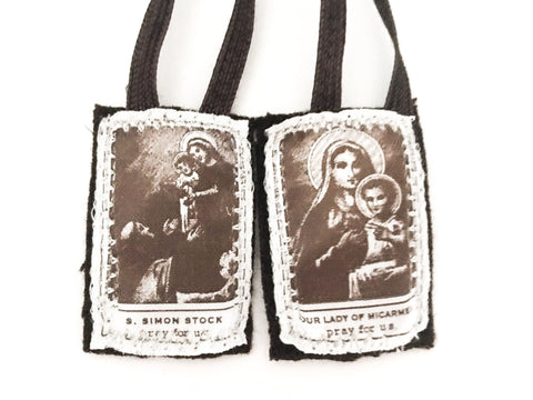 Carmelite Brown Wool Scapular of Carmel (Single, Lot, or Bulk)
