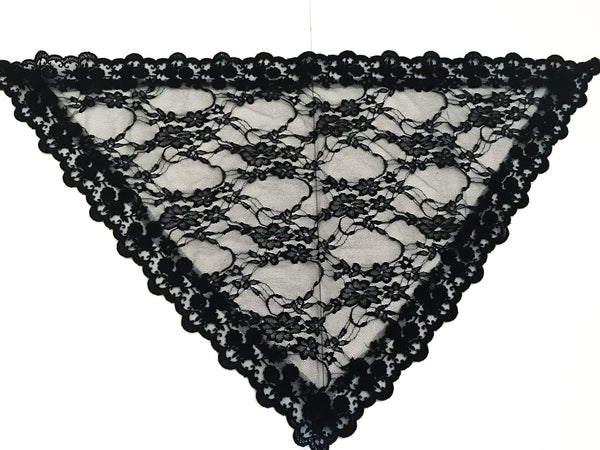 Small Black Triangle Chapel Veil/Mantilla