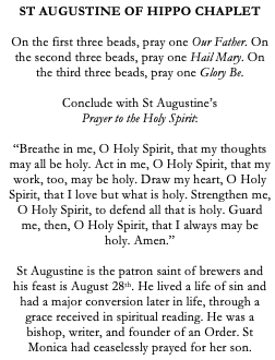 St Augustine of Hippo Catholic Chaplet