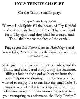 Holy Trinity Catholic Chaplet
